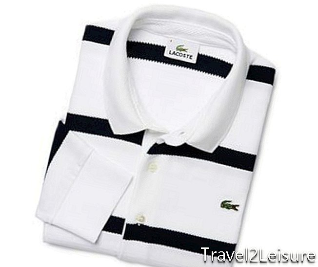 Polo regular fit à rayures chevrons de Lacoste