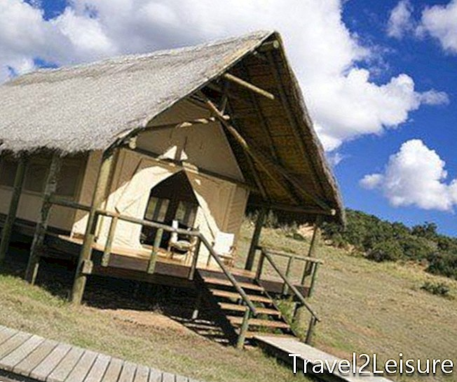 Gorah Elephant Camp - eksterior suite tenda