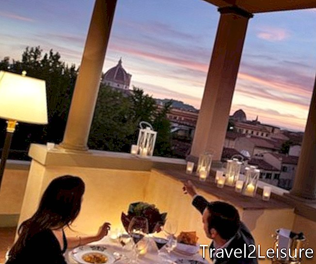Makan malam romantis di Four Seasons Florence